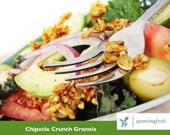 Growing Fresh TM Raw & Vegan 'Chipotle Granola', 175 g - Salad Topper, Snack