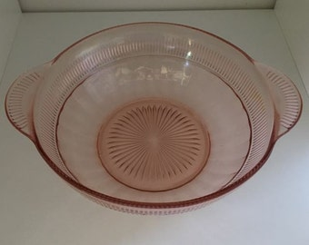Bowl In Coronation- Pink by Hocking Glass