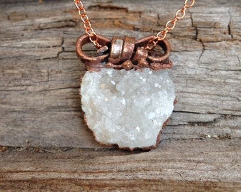 Crystal necklace, crystal pendant, Natural crystal choker, natural jewelry, natural jewelry, natural necklace, boho jewelry