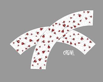 Ladybug birthday cupcake wrappers, Printable cupcake wraps, Ladybug party, printable, DIY, Instant Download ( LB001 )