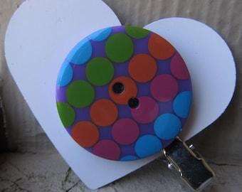 Polka Dot Button Hair Clip
