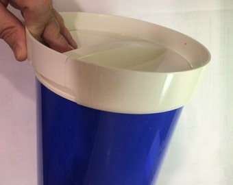 Thermo Serv ice bucket blue mid mod atomic style