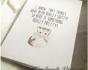 Greeting Card for someone going through a difficult/hard/S****y time *Free UK postage*