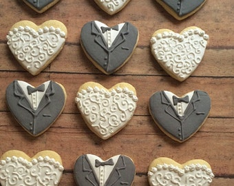 Wedding cookies/ gift for bridesmaids/ gifts for groomsmen/ Bride and groom/ bachelorette party/ bridal shower/  wedding reception cookies