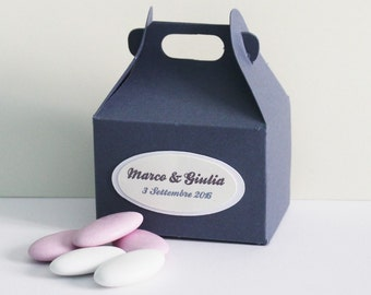 Customizable favor boxes/box customizable Eco friendly wedding favors