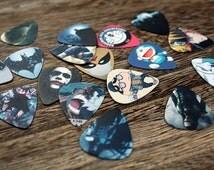 Mystery 10 Guitar Picks - Random Grab Bag of guitar picks - Anime - Music - Batman - Avengers