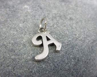 "Vintage, Silver, Initial Charm, Letter ""A"",  Marked, Personalized, Sterling Silver, Unique"