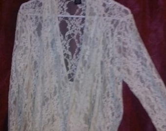 beautiful lace boho jacket