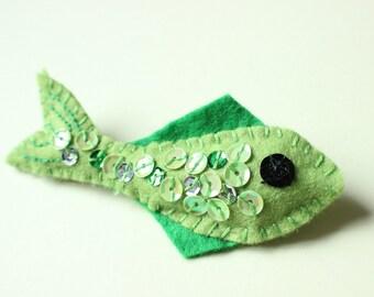 Little Green Fish Brooch.