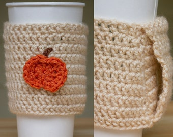 Pumpkin Coffee Cozy with Handle