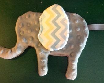 Minky Crinkle Tag Toy Elephant