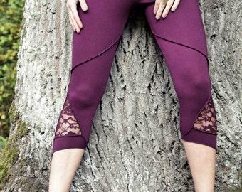 Tribal Gypsy Cotton Lace Leggings size S-M