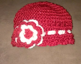 Baby crocheted hat with detachable head band