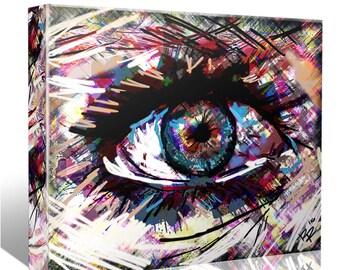 Eye Canvas Art, Evil Eye Canvas, Original painting