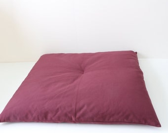 Slim Zabuton Meditation Cushion - Burgundy