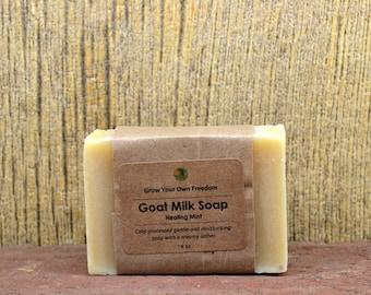 Organic Goat Milk Soap, Handmade Organic Soap, Organic Cold Process Soap, Goat Milk Mint Soap