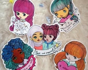 Support Cuties Sticker set