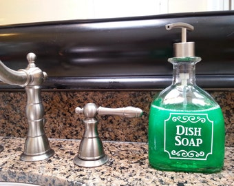 Patron Dish Soap Dispensers / Patron Dish Soap Bottle / Kitchen Decor Gift / Tequila Gifts / Recycled Patron / Glass Soap Dispenser Bathroom