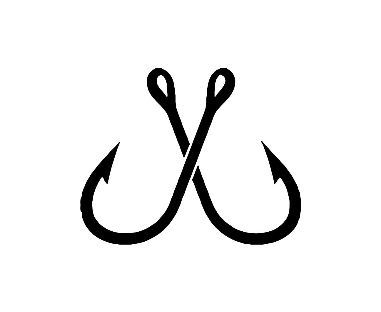 Fish hooks decal fishing decal yeti decal by for Fishing yeti decal