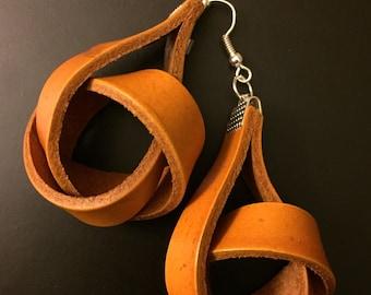 Knot Leather Earrings