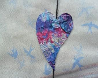 Paper Mache Hanging Hearts