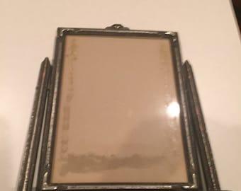 Vintage silver wooden swinging frame 8 x 10