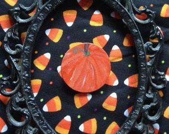 ooak Pumpkin brooch