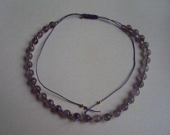 Amethyst friendship necklace