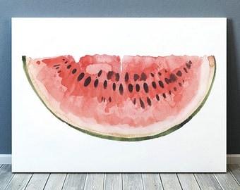 Watercolor poster Watermelon print Kitchen print Food decor ACW805
