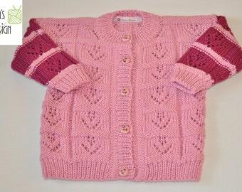 """Children's jacket """"Elisa"""" knitted Gr. CA 74"""