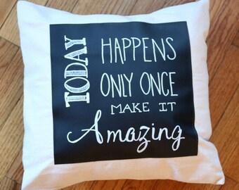 Throw Pillows, Throw Pillow, Chalkboard Pillow, Decorative Pillows, Pillow with Words, Decorative Throw Pillows, Decorative Pillow Covers