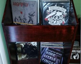 LP bin, vinyl record storage cabinet