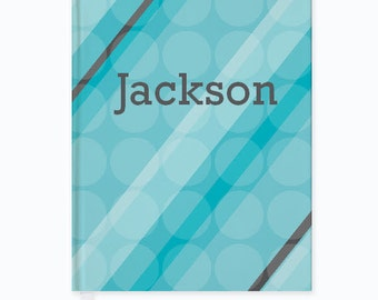 Personalized Blue Dots Journal - Custom Journal for kids and adults. Back to School gift for Kids. Kids Journal with Child's Name