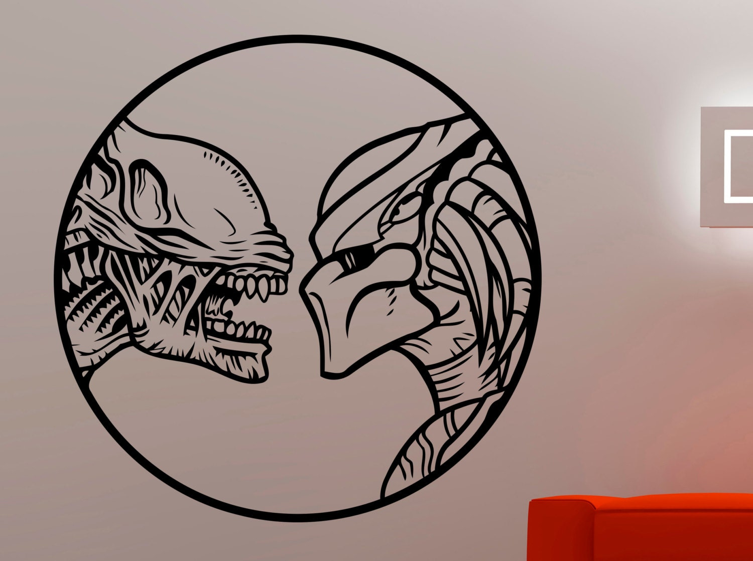 alien vs predator sticker movie wall decals home interior