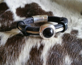 Leather Horsehair Small Bracelet