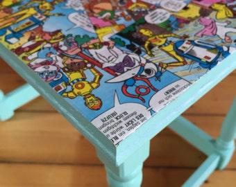 Comic furniture - upcycling - Ewoks - Star Wars - stool - side table