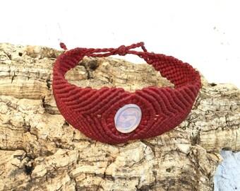 macrame Opal bracelet