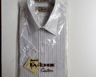 Deadstock!  Still Wrapped Young Man's Dress Shirt Woodwards Vancouver Canada 1970's