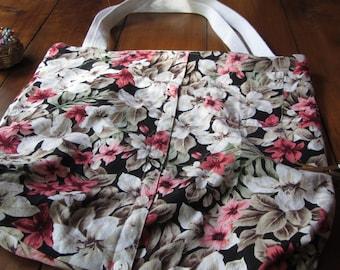 Upcycled Shirt Tote Bag-Hawaiian