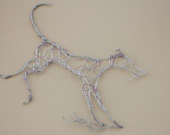 Running greyhound/lurcher/dog wire wall art