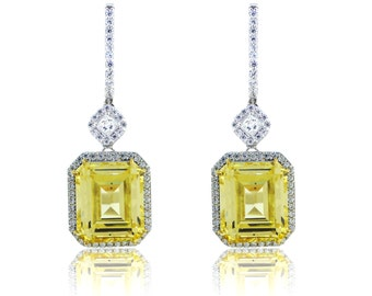 925 Sterling Silver - Canary Dangling Earring (S379)
