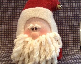 Santa shelf sitter,Santa,shelf sitter,holiday shelf sitter,holiday decor,Christmas decor,Christmas shelf sitter,primitive shelf sitter,Xmas
