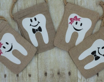 Tooth Fairy Bag-Tooth fairy-Tooth fairy pouch-Tooth holder-Personalized Pouch-Tooth keepsake-Lost tooth-Tooth fairy sack-Canvas Bag-kids bag