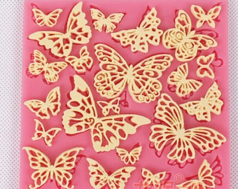 Butterfly shape Fondant cake mold silicone sugar lace mould sugar mat decoration for wedding cake  kitchen tools