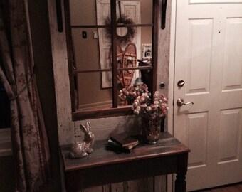 Repurposed Door Hall table and shelf