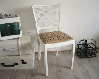 old chair, upholstered Chair, white, shabby chic, vintage