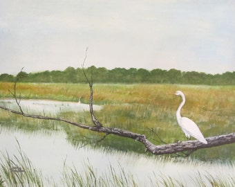 Egrets at the Marsh