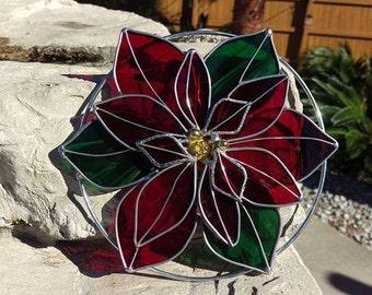 Poinsettia Suncatcher