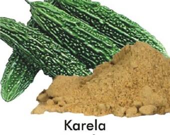 KARELA Powder, Bitter Melon,bitter gourd ,bitter squash , balsam-pear ,Goya Momordica charantia Powder, organic 100 % natural
