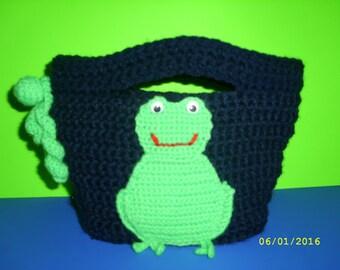 Children bag frog